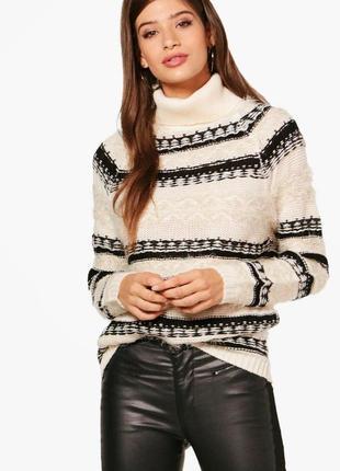 Роскошный свитер с горлом с элементами травки brave soul