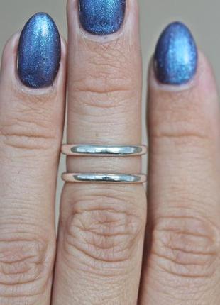 Серебряное фаланговое кольцо параллель м