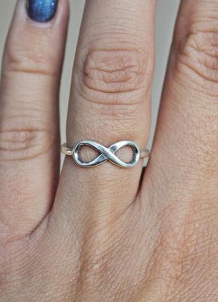 Серебряное кольцо бесконечность р.17,5-18