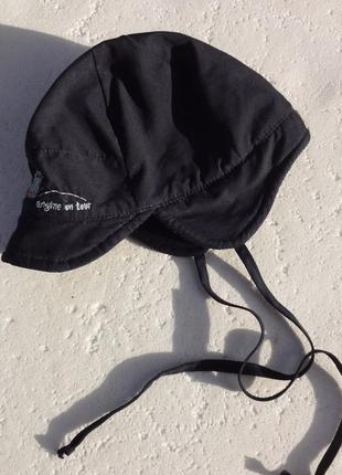 Maxikids. зимняя шапка на флисе с завязками.