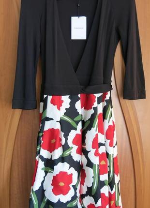 Платье на запах женское diane von furstenberg, короткий рукав, люкс