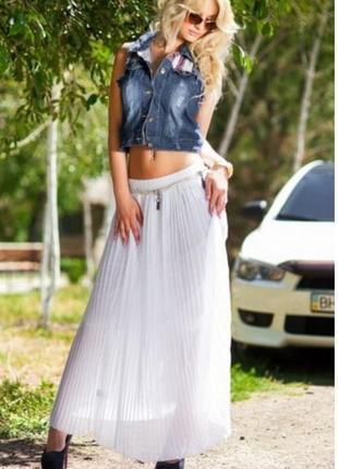 Белая плиссированная юбка плиссе dobenhams