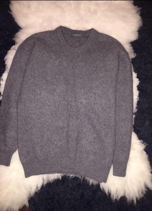 100% шерстяной серый свитер