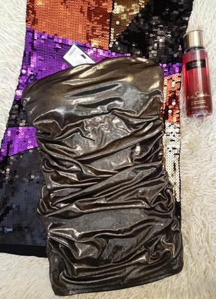 Красивая золотая туника - бюстье от tally weijl.