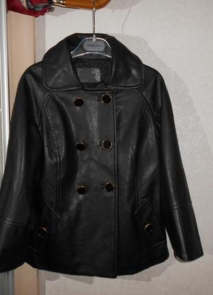 Joos стильная куртка из искусственной кожи, р.36, s-ка