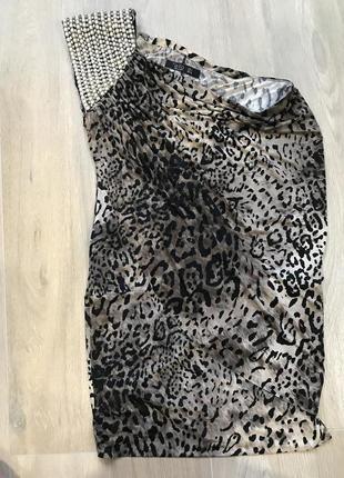 Модный тигровый принт сезона,нарядное платье