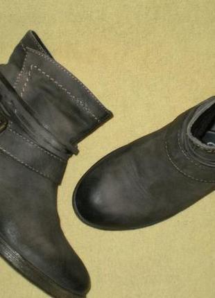 Кожаные демисезонные ботинки s.oliver (с.оливер)  37р. стелька 23,5см.