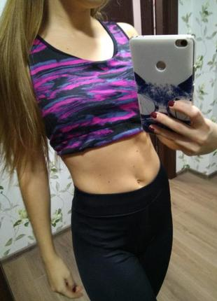 Спортивный топ топик майка футболка спорт одежда фитнес йога