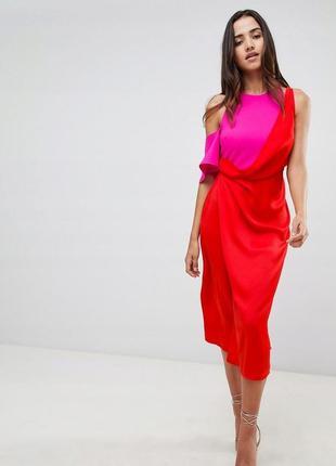 Asos чарівна двоколірна контрастна сукня