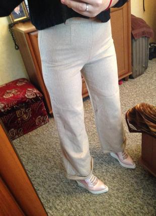Теплые шерстяные брюки шерсть трубы кюлоты fendi