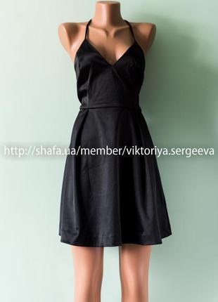 Большой выбор платьев - новое с биркой красивое вечернее платье под атлас тонкие бретели