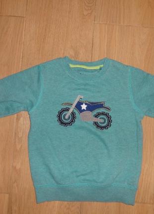 Некст свитшот с мотоциклом на 2-3 года