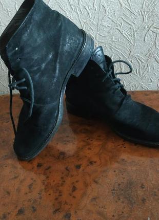 Черные замшевые туфли 36,5р