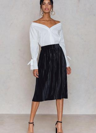 Красивенная велюровая юбка
