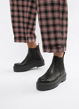 Челси ботинки {на платформе asos}