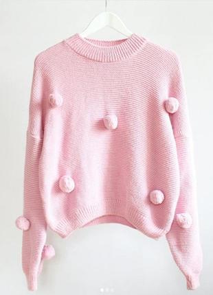 Милый свитерок с пумпоноами