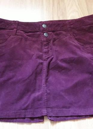Вельветовая юбка размер  50 наш takko германия