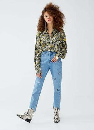 Шикарные джинсы mom fit от pull&bear, 36, 38, 40р, испания