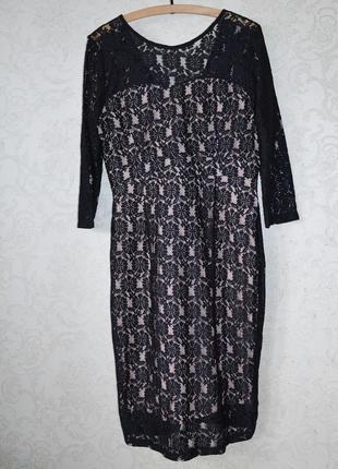 Кружевное вечернее платье р 18
