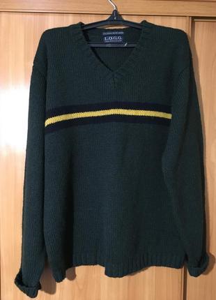 Роскошный шерстяной полувер,свитер logg