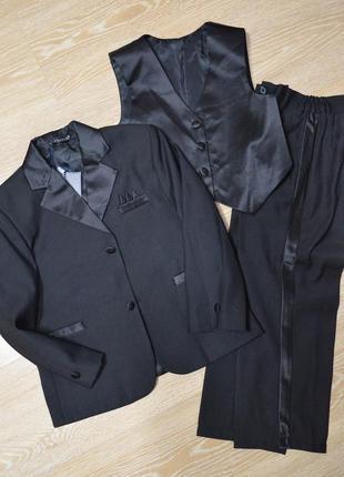 Костюм тройка пиджак брюки жилет 110-116