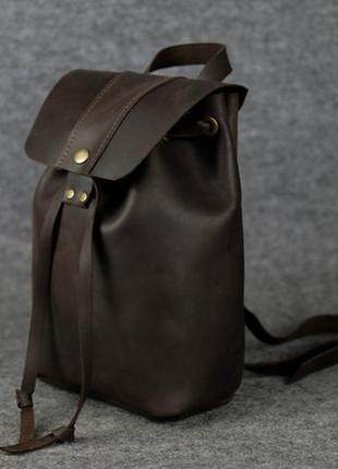 Женский рюкзак на затяжках с кнопкой  11949  шоколад