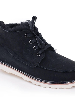 """Мужские угги  ugg david beckham boot """"black"""" арт. 0609ugg david beckham boot black р.41-44"""