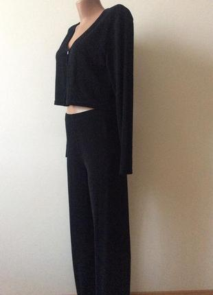 Очень красивый  модный нарядный люрексовый костюм . италия 🇮🇹