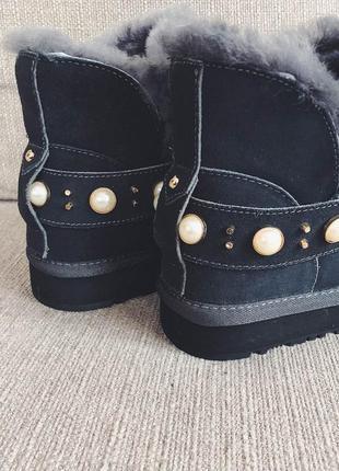 Угги-ботиночки серые4 фото