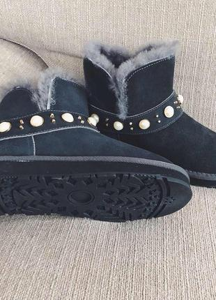 Угги-ботиночки серые5 фото