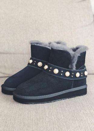 Угги-ботиночки серые3 фото