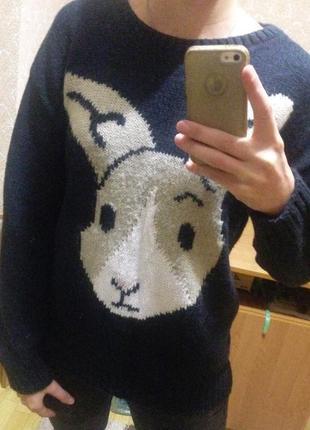 Теплый свитер с зайчиком next