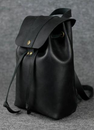 Женский рюкзак на затяжках с кнопкой  11960  черный