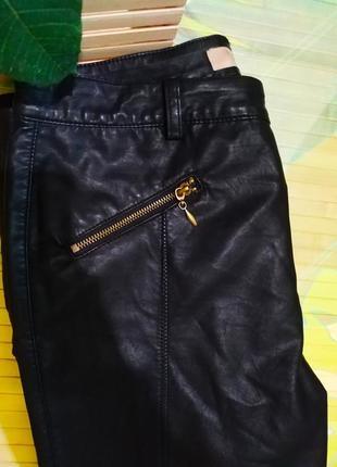Стильные брюки экокожа брюки кожзам кожаные штаны