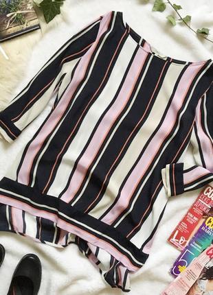 Стильная блуза туника в полоску next большой размер