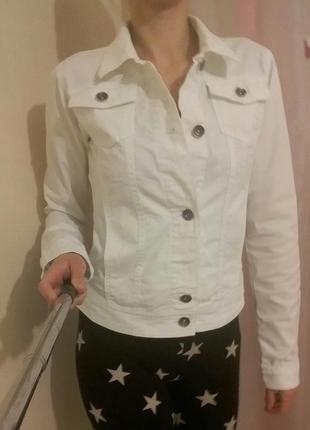 Базовая джинсовая куртка пиджак джинсовка, esprit + подарок