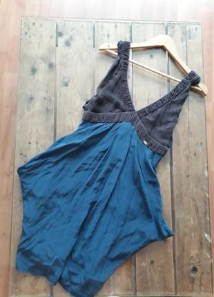 Красивое шелковое платье с карманами miss sixty