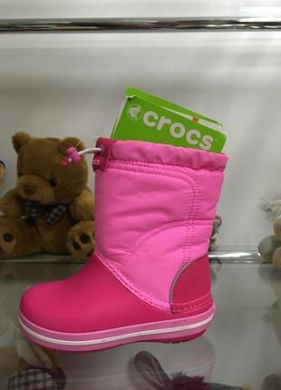 Зимние сапоги crocs crocband lodgepoint boot kids р-24