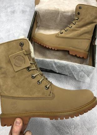 Женские высокие зимние ботинки timberland разные размеры в наличии