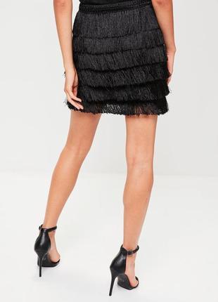 Трендовая юбка с бахромой missguided ms112