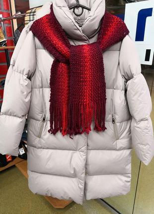 Шарф шерстяной зимний тёплый крупной вязки