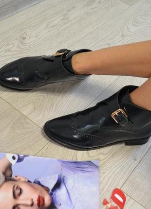 Стильные кожаные  ботинки asos