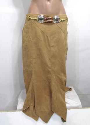 Фирменная стильная макси юбка под легкий бархат