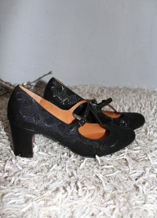 Черные кожаные туфли chie mihara