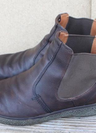 Ботинки челси ecco кожа дания 44р