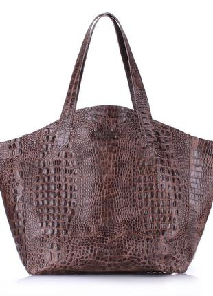 Невероятно красивая,повседневная сумка из натуральной кожи под крокодила.