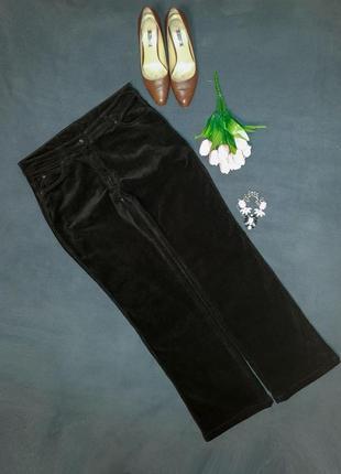 Теплые вельветовые брюки шоколадного цвета