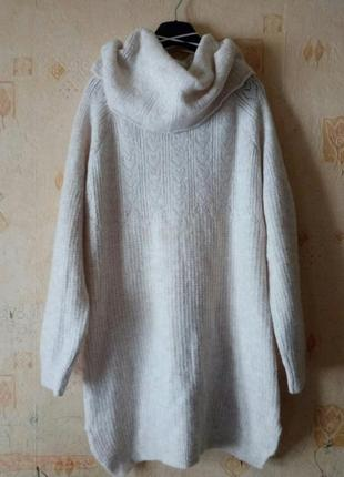 Крутой свитер-платье туника оверсайз tu