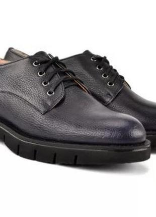 Женские темно-синие туфли дерби