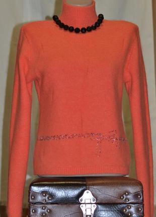 Свитер ангоровый теплющий ярко-апельсинового цвета